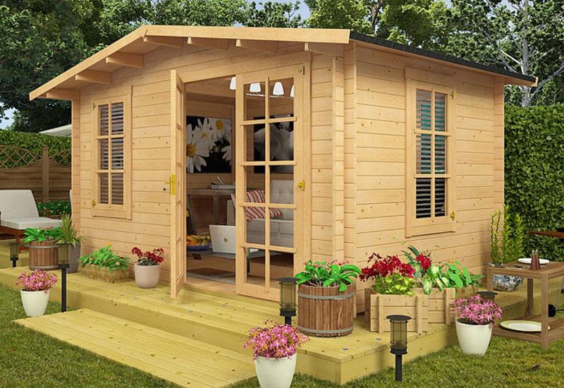 طراحی و ساخت کلبه چوبی و آلاچیق